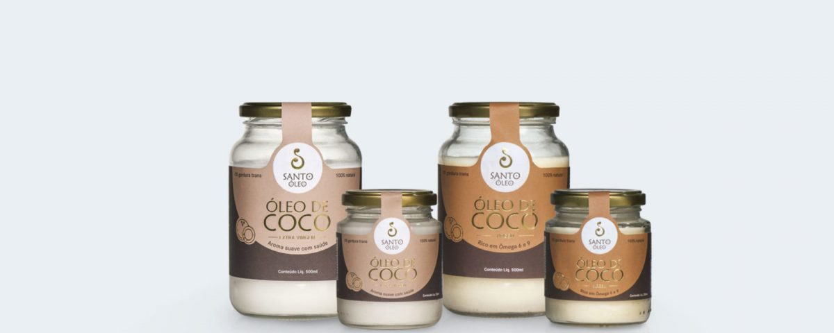 Óleo de coco faz bem para a saúde.