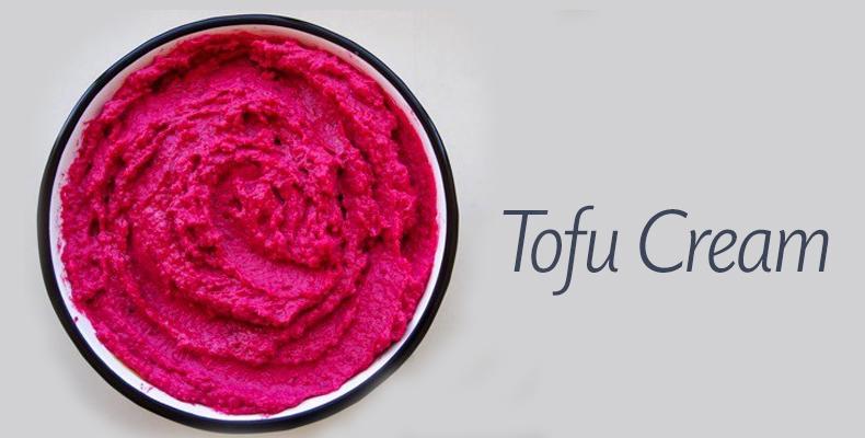 Tofu cream de beterraba com óleo de açaí