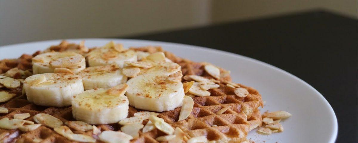 Waffle saudável de Banana